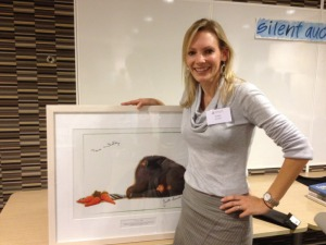 Shelly with Bruce Whatley print